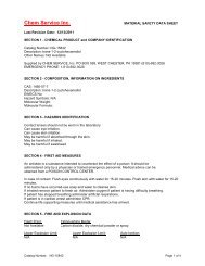 download MSDS - Chem Service, Inc