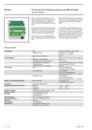 Merten Universal E/A-Tableauansteuerung REG-K ... - Eibmarkt.com