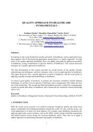 quality approach to healthcare – fundamentals - European ...