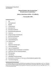 Muster-Richtlinie über den baulichen Brandschutz ... - Bauordnungen