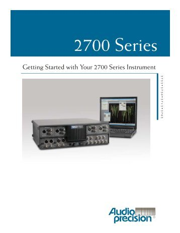 Getting Started with Your 2700 Series Instrument