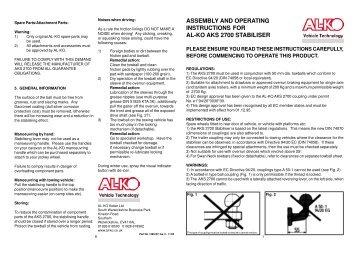 Overrun Braking System Handbook Al Ko