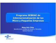 Programa SEBRAE de Internacionalización de las Micro y ... - Alide