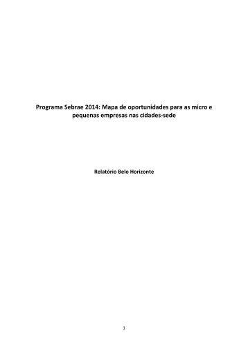 Programa Sebrae 2014: Mapa de oportunidades para as ... - Fumsoft
