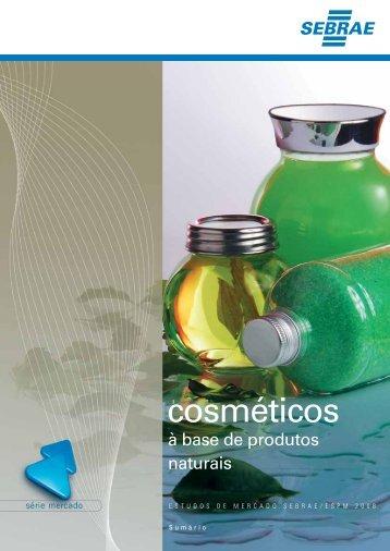 Cosméticos à base de produtos naturais - Funcex