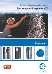 Das Komplett-Programm 2007 Preisliste - Gep
