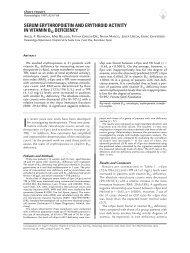 Serum erythropoietin and erythroid activity in vitamin B12 deficiency