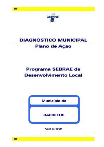DIAGNÓSTICO MUNICIPAL Plano de Ação Programa SEBRAE de ...
