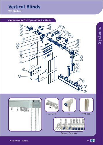 V33 System Vertical Blinds - Holis