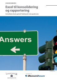 Excel til konsolidering og rapportering - IBC Euroforum