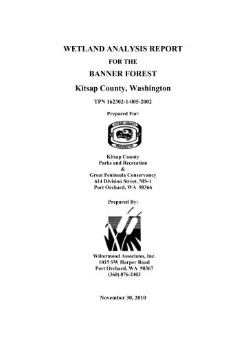 Wetland Analysis Report, Nov. 2010 - Kitsap County Government