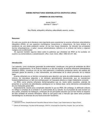 ANEMIA REFRACTARIA SIDEROBLASTICA IDIOPATICA ... - Binasss