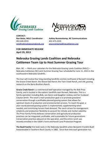 Read the full press release... - Nebraska Grazing Lands