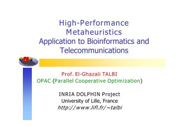 High-Performance Metaheuristics Application to ... - NEO