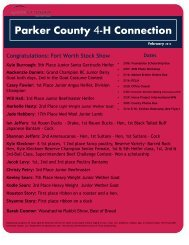 Parker County 4-H Connection - Extension Education in Parker County