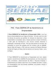 Posto SEBRAE-SP de Atendimento ao Empreendedor - Prefeitura ...
