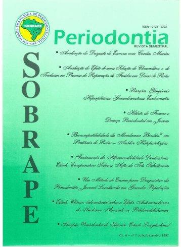 Page 1 ISSN - 0103- 9393 Periodontia REVISTA SEMESTRAL @£1 ...