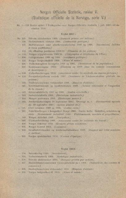 NORGES OFFICIELLE STATISTIK. V. 199 ... - SSB