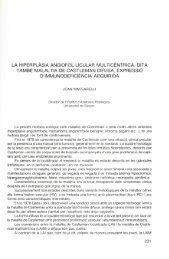 La hiperplàsia angiofol·licular multicèntrica, dita també malaltia de ...