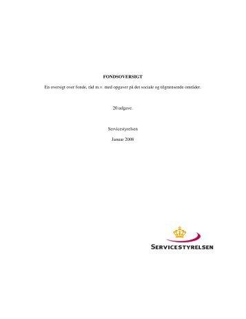 En oversigt over fonde, råd mv med opgaver - Sygehus Vendsyssel