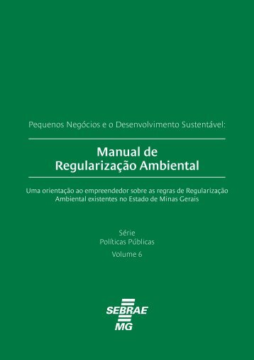 Manual de Regularização Ambiental - Biblioteca Sebrae