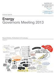 Energy Governors Meeting 2013 - World Economic Forum