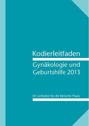 Kodierleitfaden Gynäkologie und Geburtshilfe - Kodieren mit ...