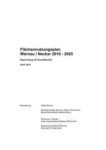 Begründung Flächennutzungsplan - Wernau