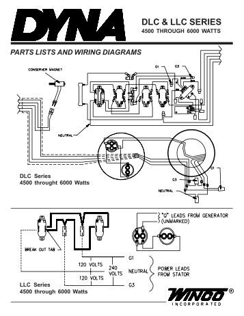illustrated parts lists ac and dc generator
