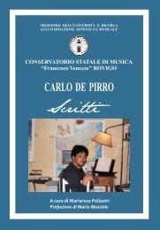 """Copia di De Pirro.vp - Conservatorio di Musica """"Francesco Venezze"""""""