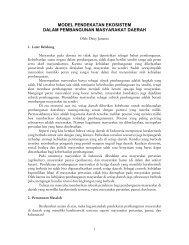 Model Pendekatan Ekosistem Dalam Pembangunan ... - PKAI-LAN