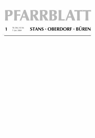 STANS · OBERDORF · BÜREN - Pfarrei Stans