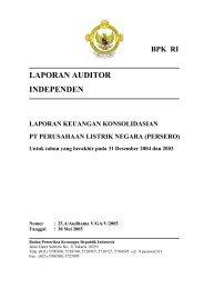 LAPORAN AUDITOR INDEPENDEN - Badan Pemeriksa Keuangan