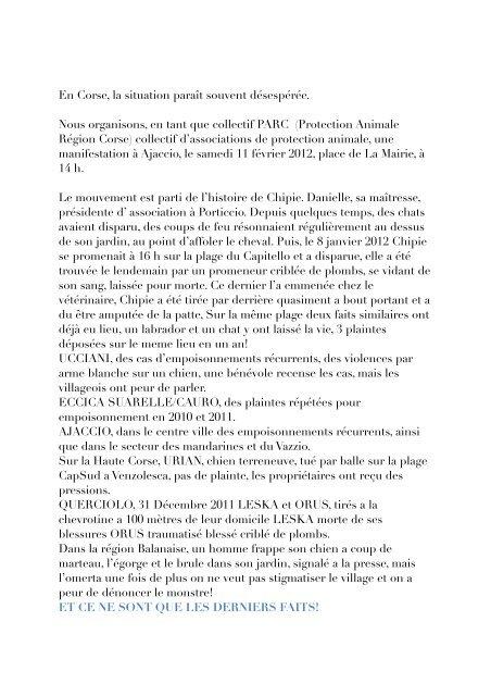 En Corse, la situation paraît souvent désespérée ... - Equitable-Corse