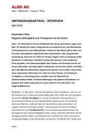 Hintergrundartikel Faszination Glas Deutsch April 2010