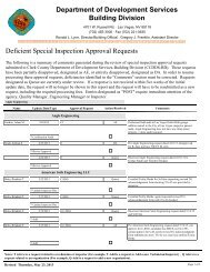 Deficient Special Inspection Approval Requests - Clark County ...