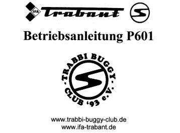 Betriebsanleitung - Trabbi Buggy Club
