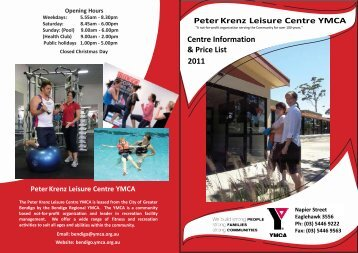 Peter Krenz Leisure Centre YMCA - Bendigo Regional YMCA