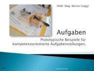Prototypische Beispiele für kompetenzorientierte ... - biologie