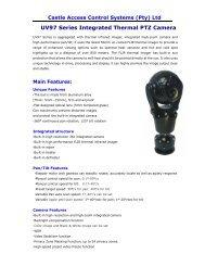 UV97 Series Integrated Thermal PTZ Camera - Castlecontrols.co.za