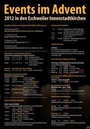 Events im Advent - Eschweiler-Kirche.de