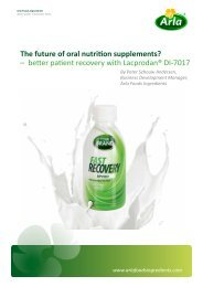 The future of oral nutrition supplements? - Arla Foods Ingredients