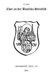 Chor an der Basilika Steinfeld - Gdg-steinfeld.de