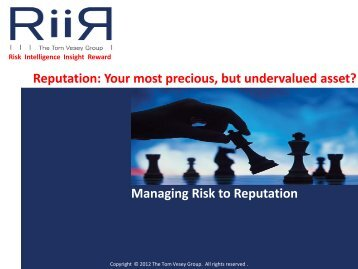 Managing Risk to Reputation