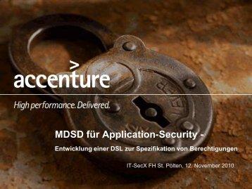 Fachliche Bedingungen - IT-SeCX - FH St. Pölten