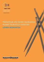 Hizkuntzak eta beren ikaskuntza euskal hezkuntza-sisteman - ISEI
