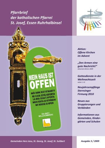 St. Josef, E Ruhrhalbinsel Pfarrbrief 3.2009 ohne ... - Bistum Essen