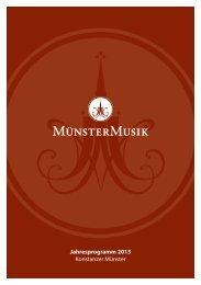 Jahresprogramm 2013 Konstanzer Münster - bei der Münstermusik