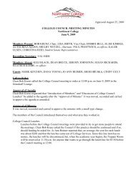 Approved August 25, 2009 COLLEGE COUNCIL MEETING ...