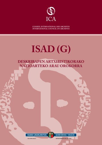ICA - Sistema Nacional de Archivos de Euskadi